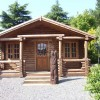 180mm Round Log Cabin, 6m x 6m with 1.5m veranda