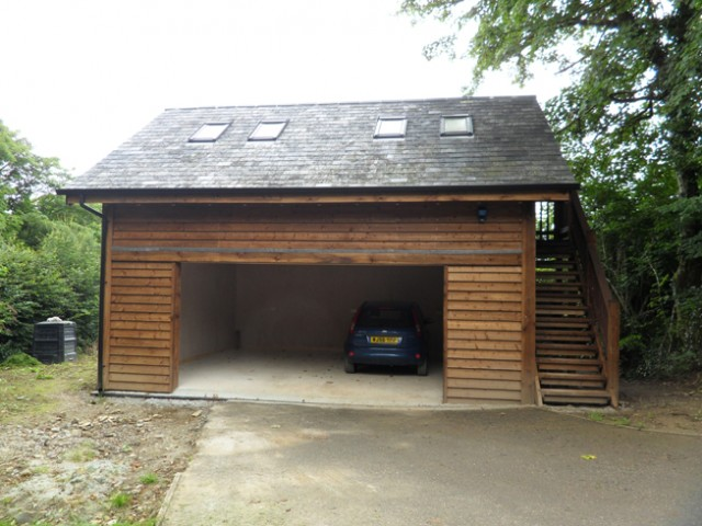 Garage with studio st teath cornwall north coast log Garage cabins