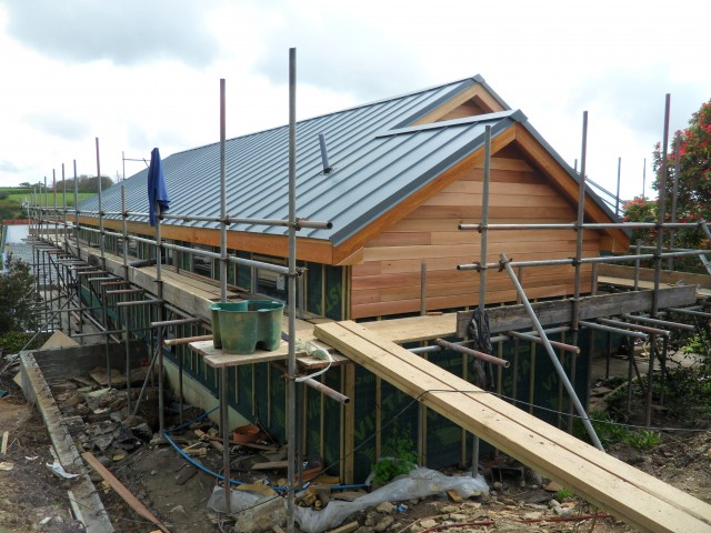 Timber Frame House Extension Feock Cornwall North