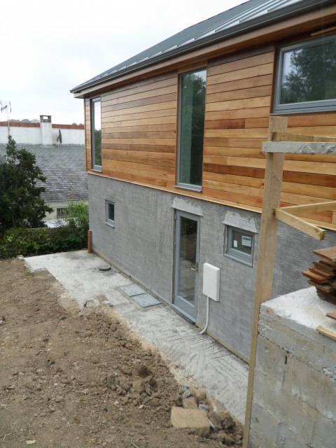 House extension feock cornwall north coast log cabins for Log cabin extensions