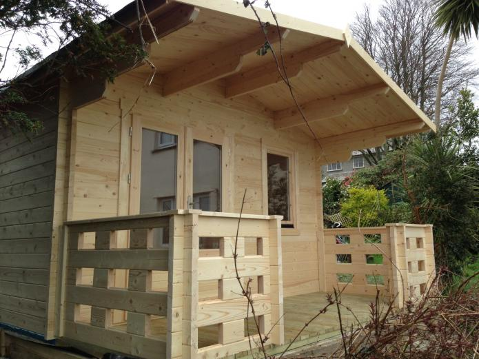 SW 2045 4.0m x 3.0m, 44mm Log Cabin, Falmouth, Cornwall