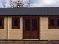Bespoke 8m x 3m, 43/43mm twin skin log cabin