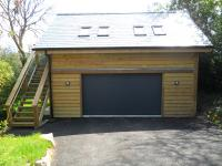 7.0m x 6.0m Garage with studio above. Bodmin, Cornwall.
