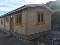 Mobile unit log cabin, 10.4m x 3.9m, Liskeard, Cornwall