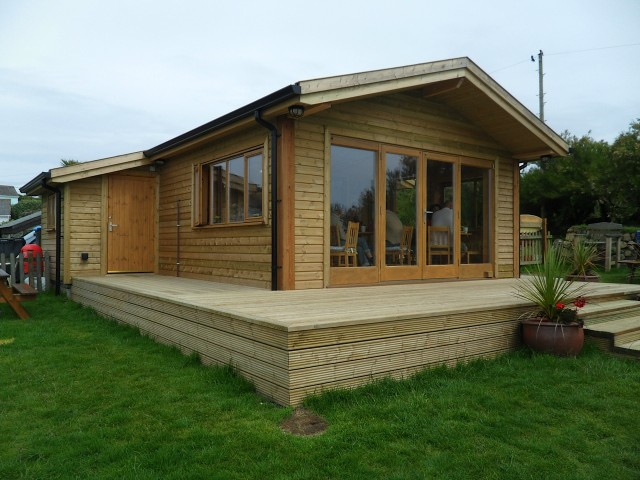 Timber frame self build kits north coast log cabins for Chalet cabin kits
