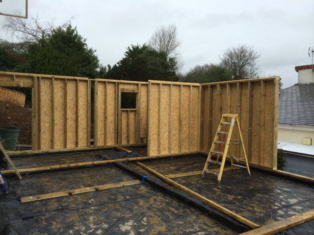 Timber Frame House Extension, Feock, Cornwall | North Coast Log ...
